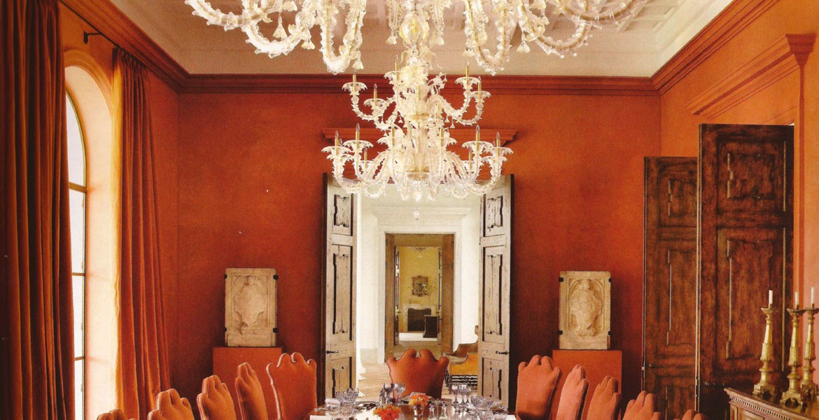 seguso chandeliers featured in architectural digest