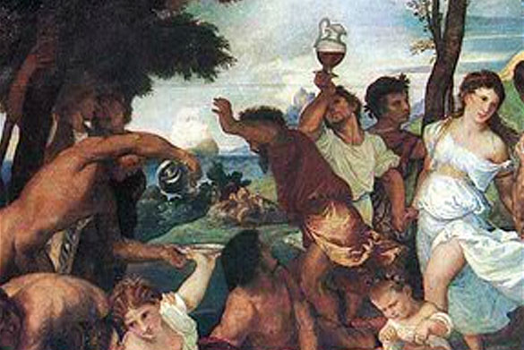 seguso glass in the most famous paintings by tiziano